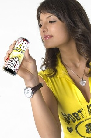 Woman Drinking Energy Drink